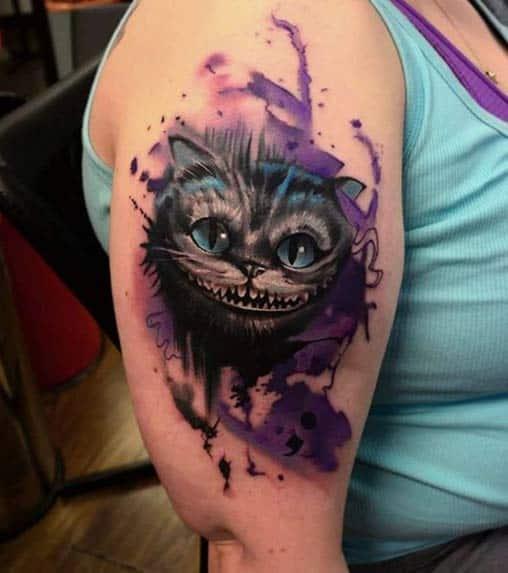 Cheshire Cat Tattoo by Bart Janus