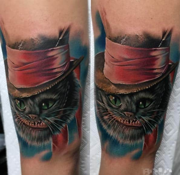 Cheshire Cat Tattoo by Bolo Art