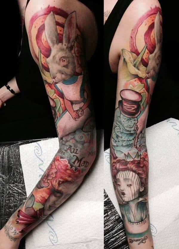 Alice in Wonderland Tattoo by Dan Lavery