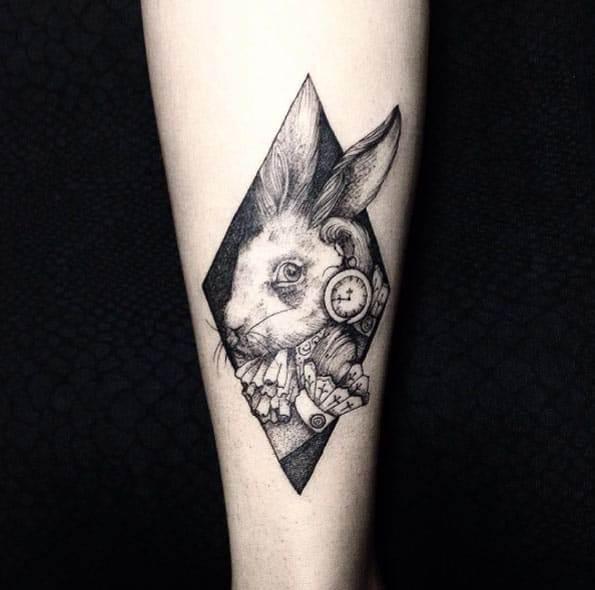 Alice In Wonderland Tattoo Design by Sandra Cunha
