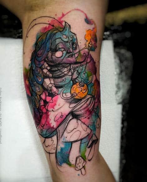 Alice in Wonderland Tattoo by Felipe Rodrigues Fe Rod