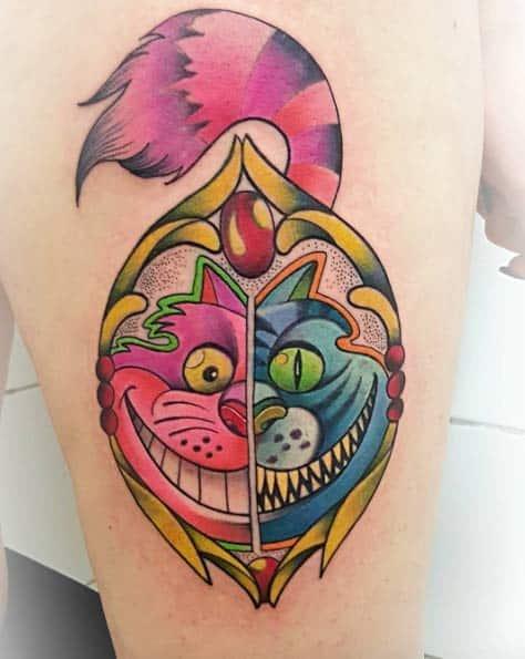 Cheshire Cat Tattoo by Gianluca Modesti