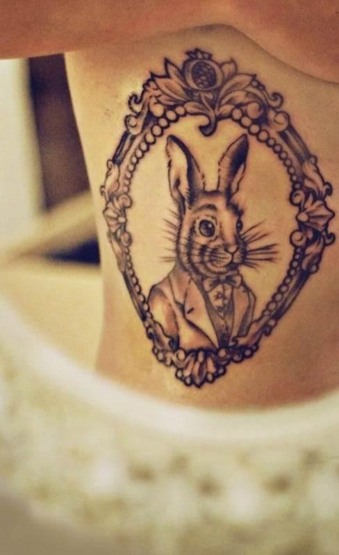 alice-in-wonderland-tattoo-rabbit-framed-mirror