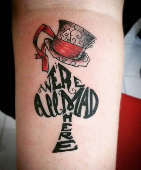 Alice in Wonderland Tattoo by Max