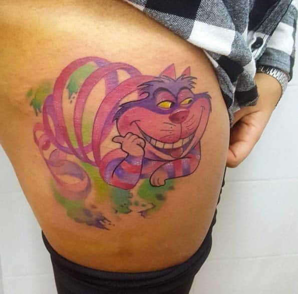 Cheshire Cat Tattoo Design by Gianluca Modesti