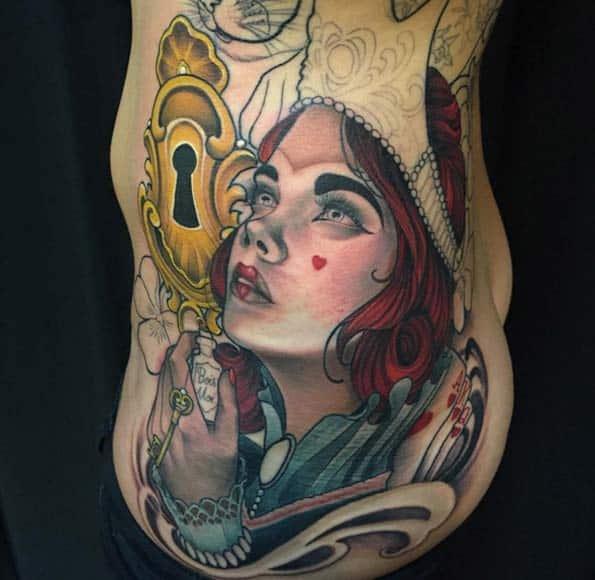 Alice in Wonderland Tattoo by Eilo
