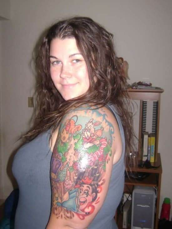 Alice-In-Wonderland-Half-Sleeve-Tattoo