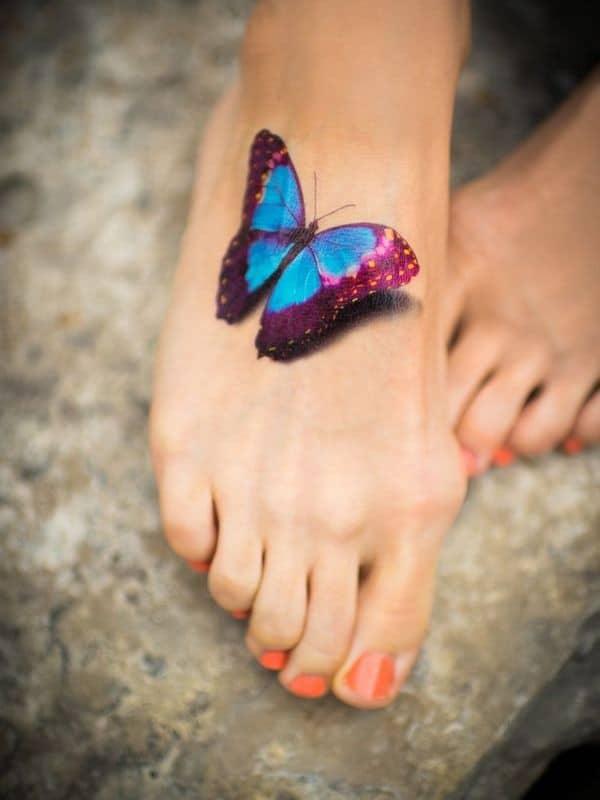 3d foot tattoo