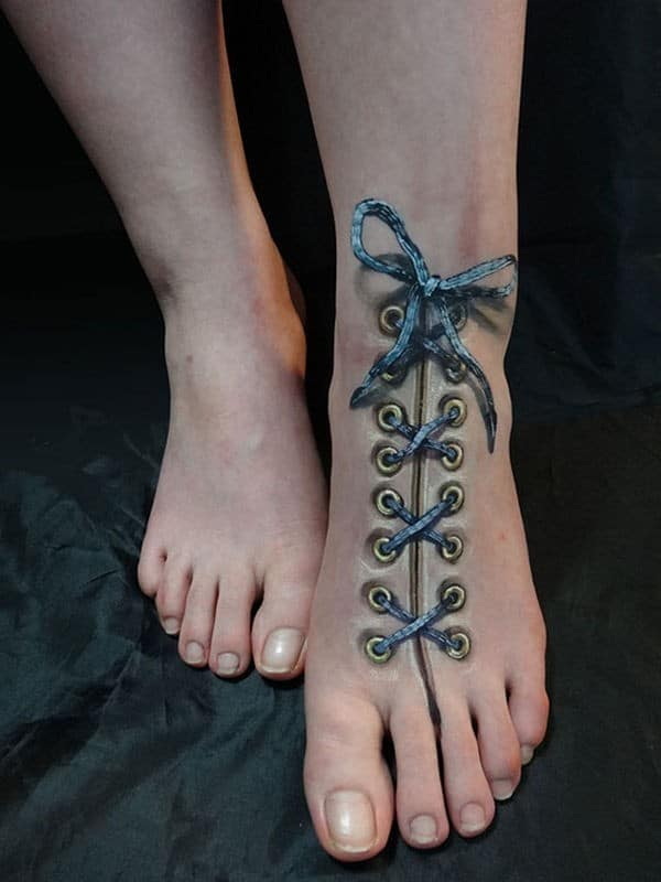 shoelace 3d tattoo