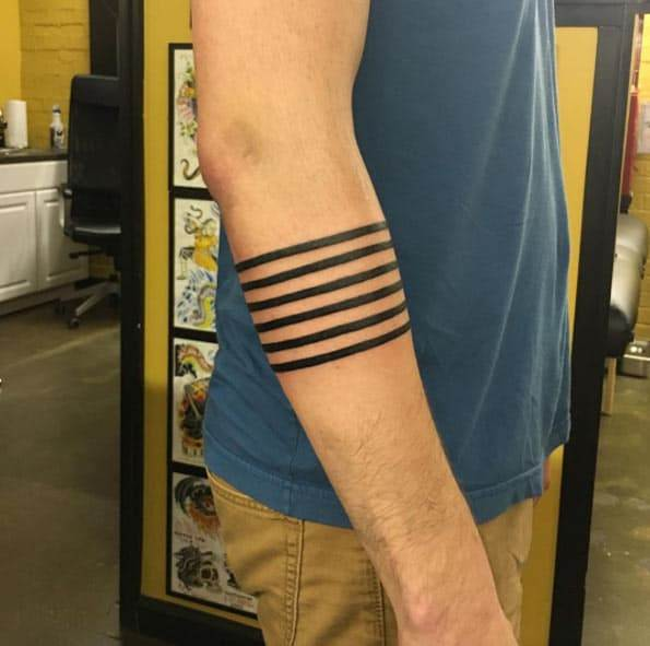 Linear Armband Tattoo by Tad Peyton
