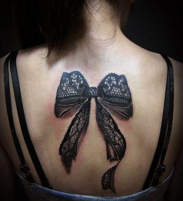 Ribbon 3D Tattoo