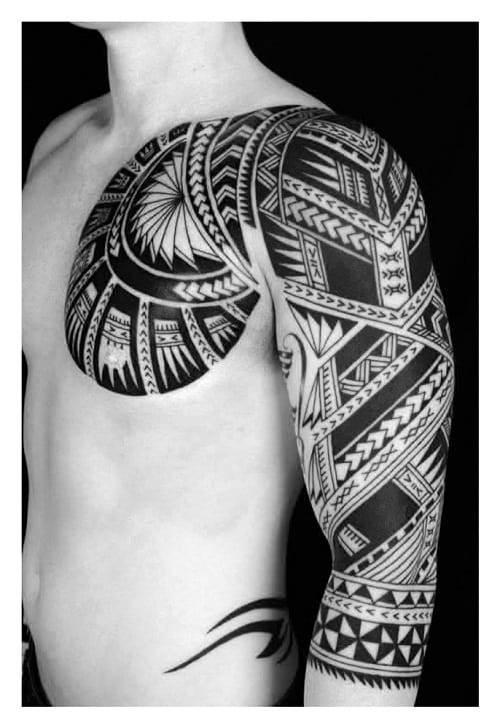 Tribal Polynesian Inspiration Tattoo Design