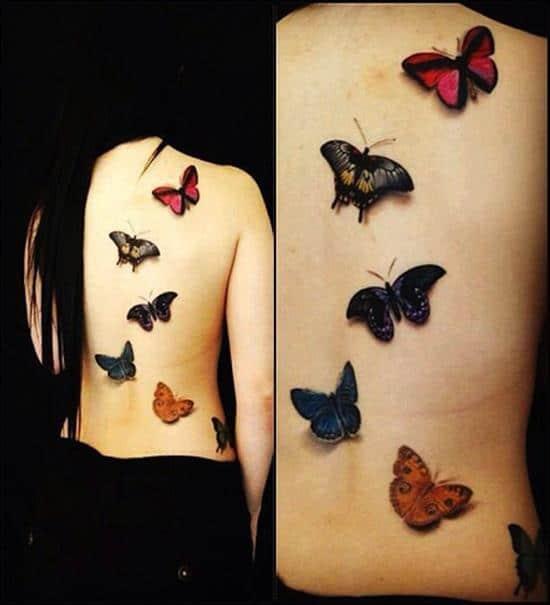 tattoo-3d-butterflies