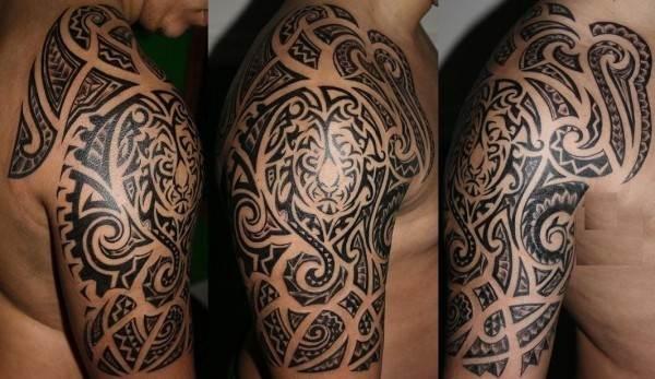 polynesian-lion-tattoo