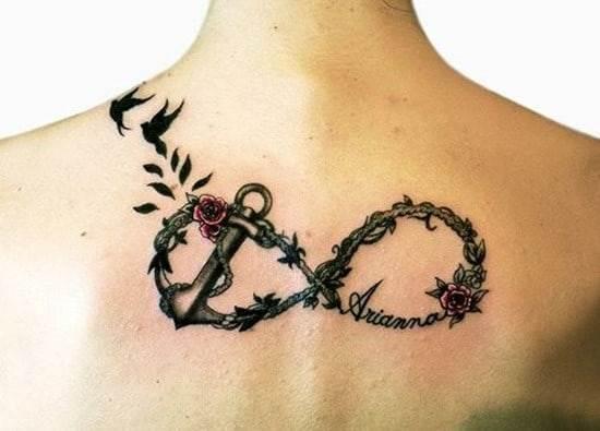 infinity back tattoo