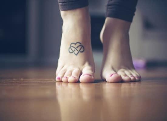 infinity feet tattoo