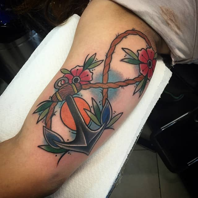 infinity anchor tattoo