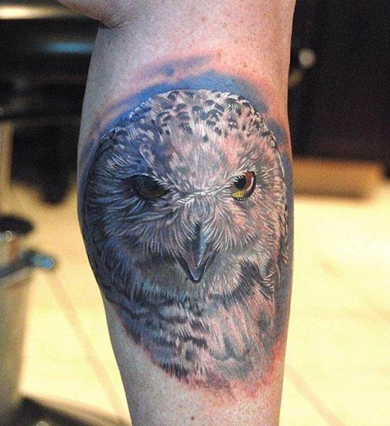 fierce owl tattoo
