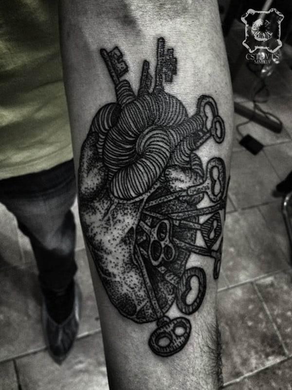 key-tattoo-heart