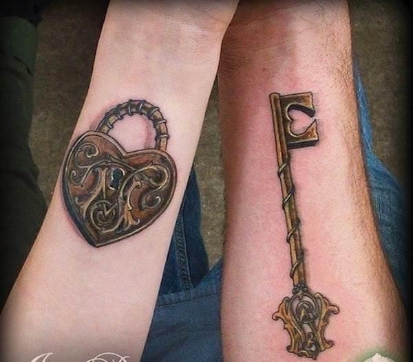 key-tattoo-with-lock
