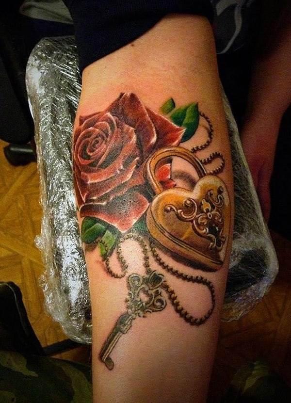 lock-key-tattoo-design-idea-ink121