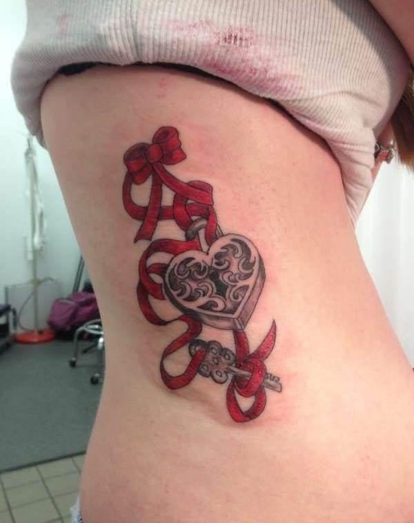 lock-key-tattoo-design-idea-ink191