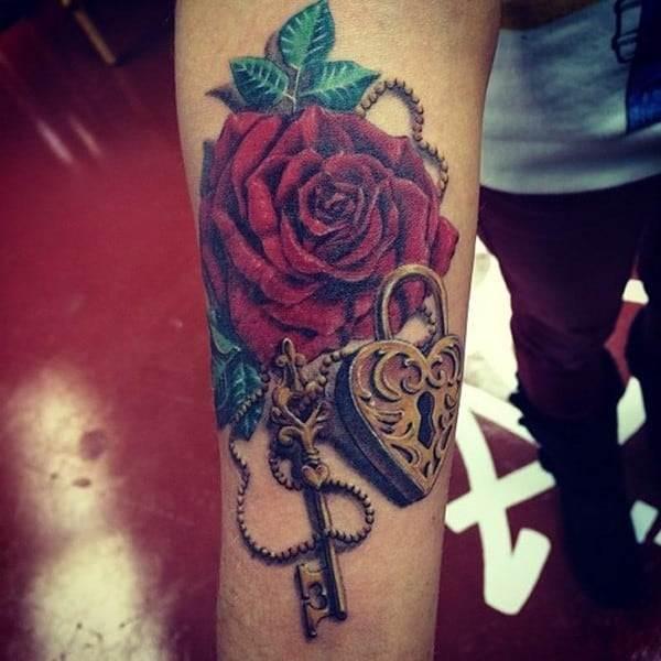 lock-key-tattoo-design-idea-ink233