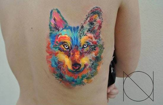 31-Watercolor-Wolf-Tattoo