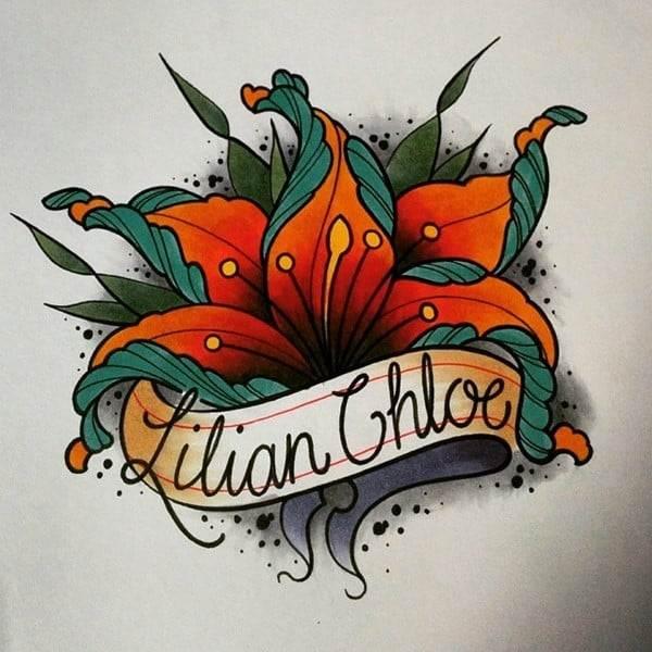 lily name tattoo
