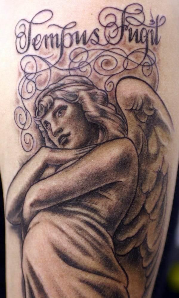 beautiful angel tattoo