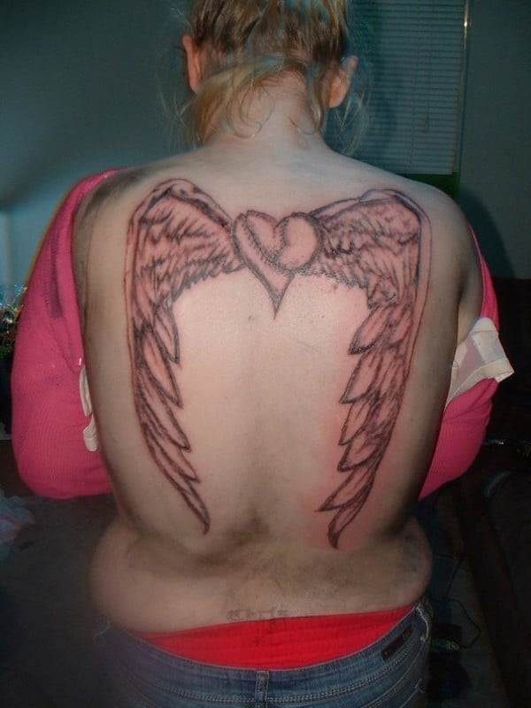 Angel Wings Tattoos For Women