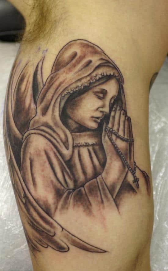 angel-and-cross-tattoo