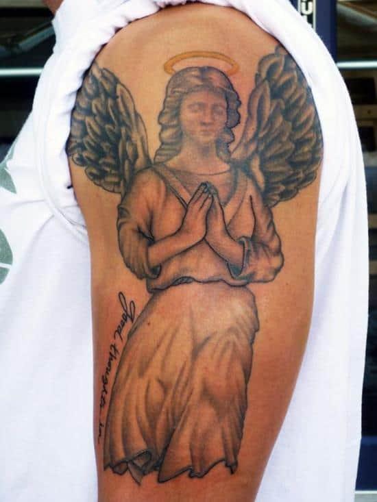 black-an-grey-angel-tattoo