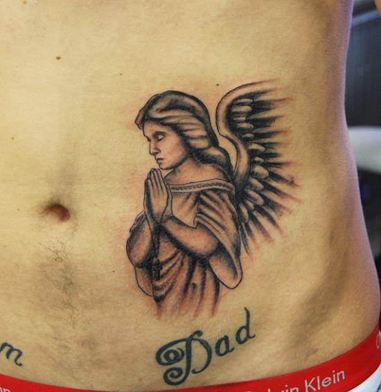 praying-angel-tattoo