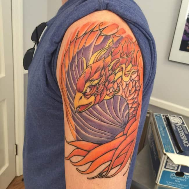 phoenix on upper arm