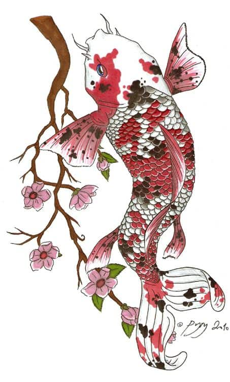 Koi Fush Tattoo with Spots