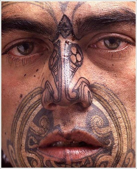 maori face tattoo