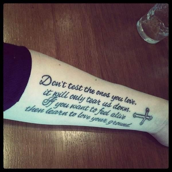 nice tattoos design quotes