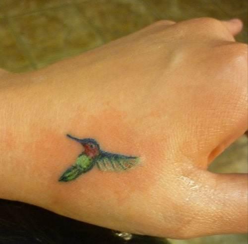 Tiny Hummingbird Tattoo