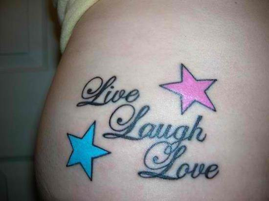 tattoo-quotes-live-laugh-love-with-stars