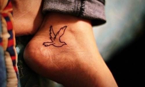 Cute Small Bird Foot Tattoo