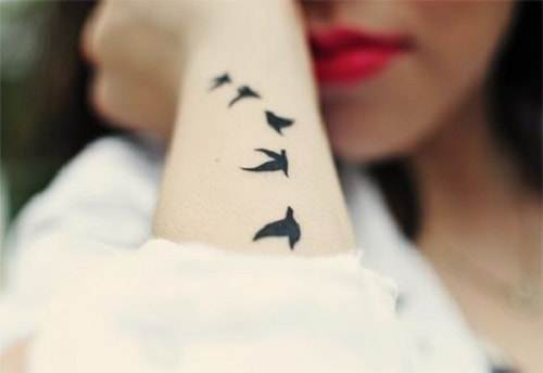 Flying Bird Tattoos for Ladies