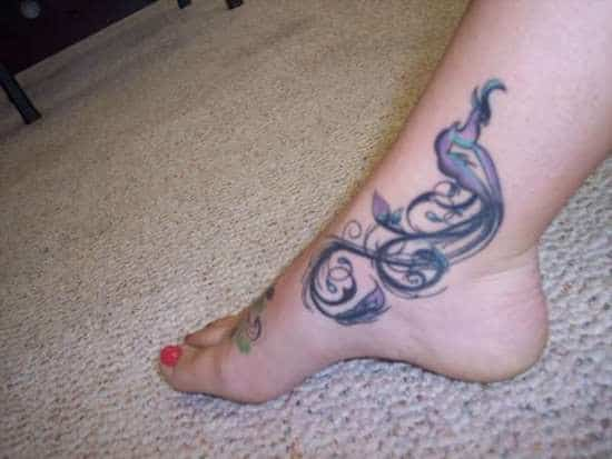 Awesome-Peacock-Ankle-Tattoo