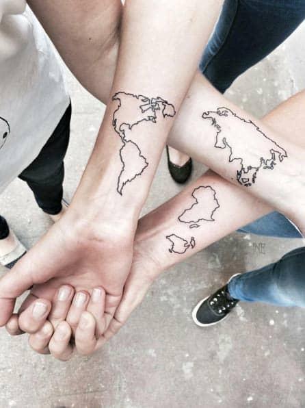 Continent Sister Tattoos by OD ŚWITU DO ZMIERZCHU