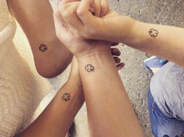 Matching Shamrock Sister Tattoos