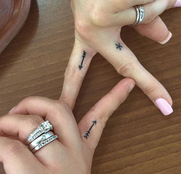 Tiny Sister Tattoos by Jessica Guerra