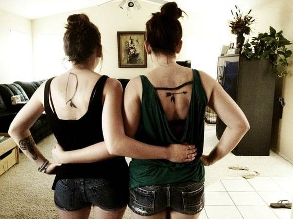 Bow And Arrow Sister Tattoo