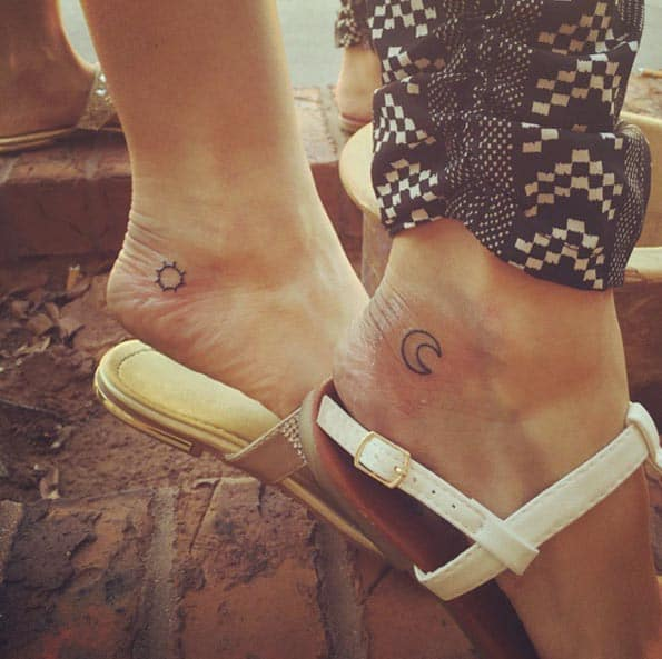 Sun and Moon Sister Tattoos by SteviRee Barney