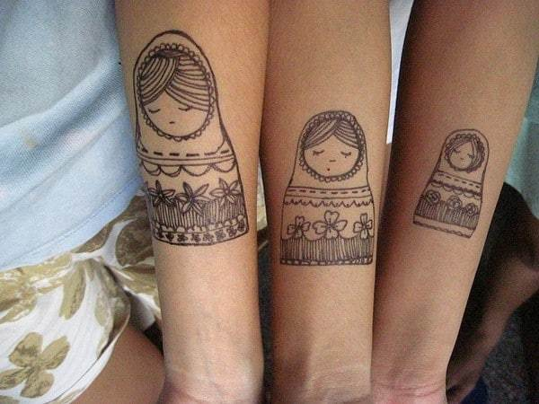 Sister Tattoos Ideas For Three