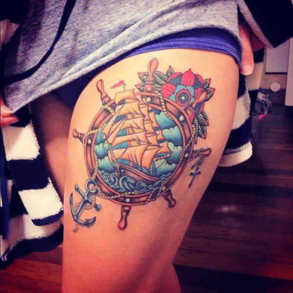 Thigh Tattoos for Women.22